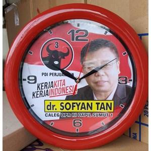 Jual Jam Dinding Promosi Caleg Partai PDIP Ring Merah 30 cm Harga ... 863297ec6d