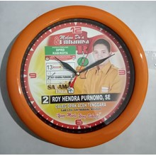 Jam Dinding Ring Orange partai Hanura 30 cm
