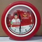 Jam Dinding Body  Merah List Putih Partai Garuda 25 cm  1