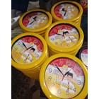 Jam Dinding Warna Kuning Partai Golkar 30 cm  3