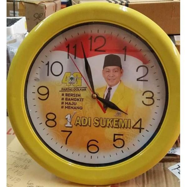 Jam Dinding Warna Kuning Partai Golkar 30 cm