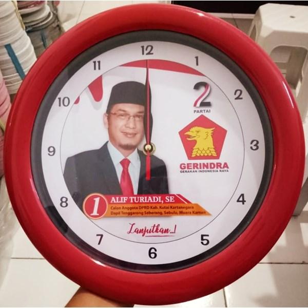 Jam Promosi Partai Gerindra Merah 30 cm