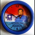 Jam Dinding Ring Biru Caleg Partai Pan 30 cm  1
