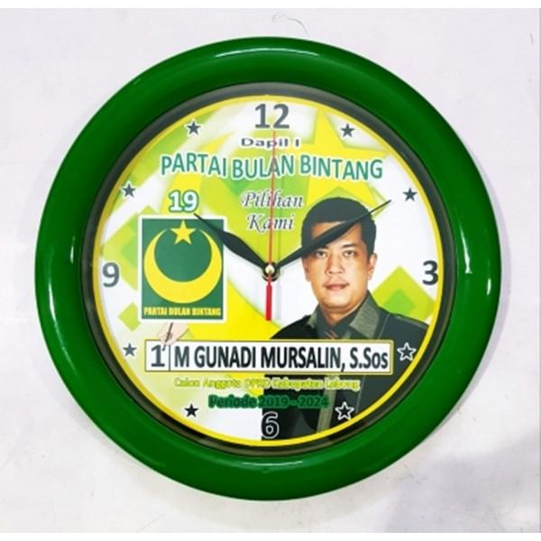 Souvenir Jam Warna Hijau  Partai PBB 30 cm