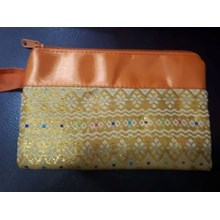 Pouch songket Resleting