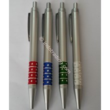 Pulpen Silver Ring Warna