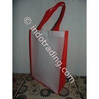 Jual Tas Spunbond Putih Kombinasi Merah
