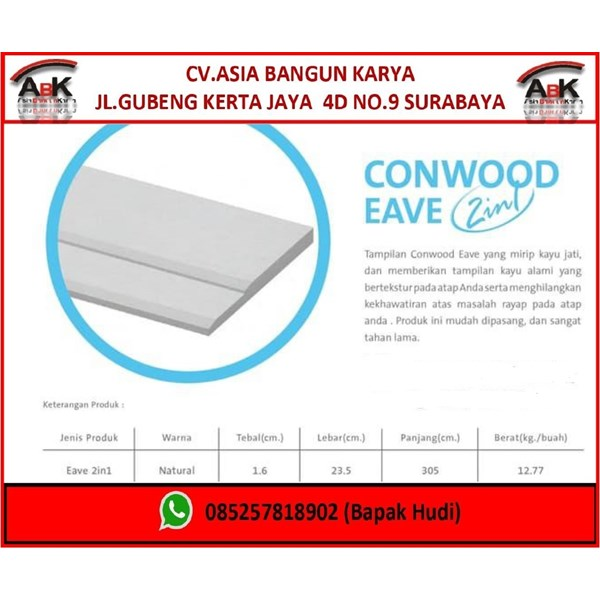 Conwood Eave 2 In 1 Dinding Partisi