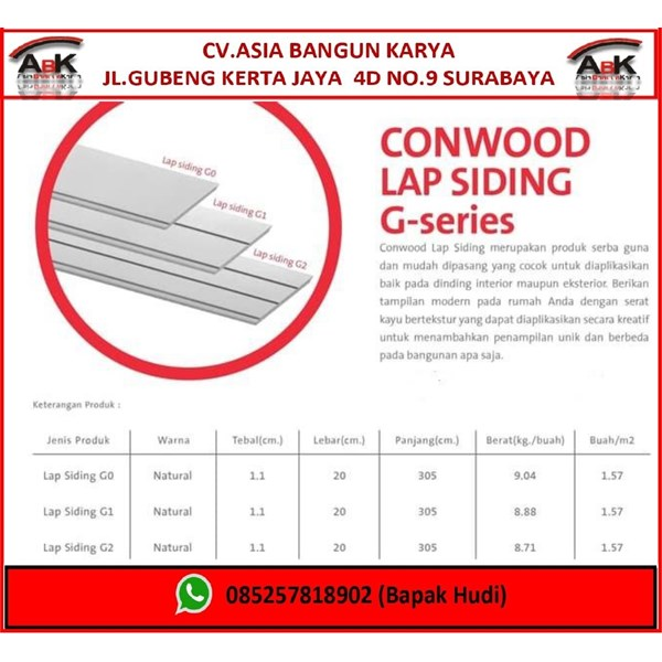 Conwood Dinding Partisi G