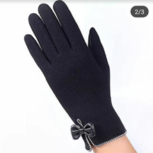 Black Thermal Touch Screen Women Gloves