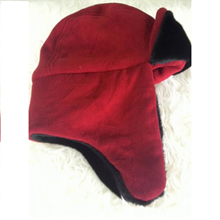 Topi Rusia Bahan Thermal Merah All Size