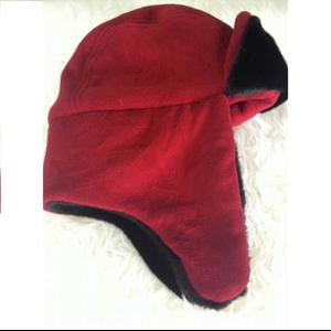 Topi Rusia Bahan Thermal Merah All Size