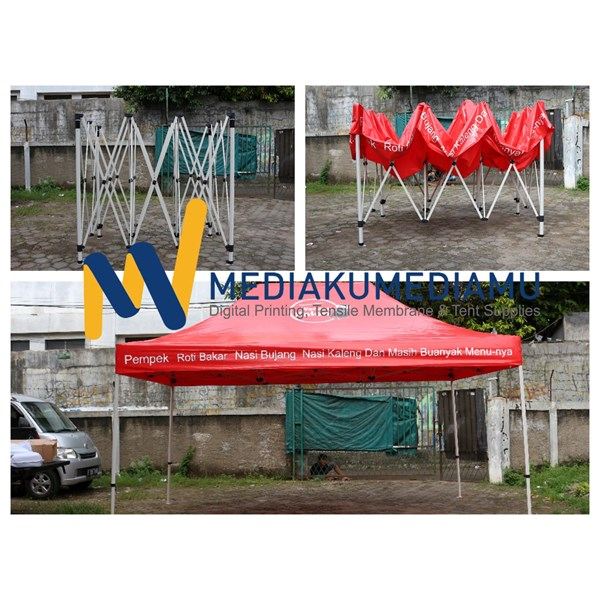 Tenda Lipat 3mx4.5m Hexa Steel