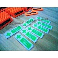 Beli Label Karet Untuk Pakaian Seragam (fortuna safety first) 4