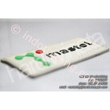 Label Karet Logo Murah (Mastel)