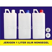 Jerigen 1 Liter Tinggi Tutup Ulir Tanpa Segel Produk Kimia Laboratorium 1