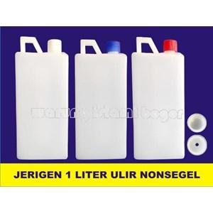Jerigen 1 Liter Tinggi Tutup Ulir Tanpa Segel Produk Kimia Laboratorium