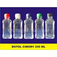 Jual Botol Plastik PET 250ml Model Kotak Produk Cimori Sarikurma Yoghurt Susu Juice Tutup Botol Warna Warni 2