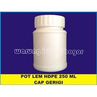 Jual Botol Toples Pot Jar HDPE Lurus Lem Kencleng Kotak Infaq Ukuran 250ml Tutup Bergerigi Dilengkapi Tutup  Dalam 2
