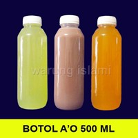 BOTOL SUSU MADU SIRUP JUS ALMOND AO 500 ml