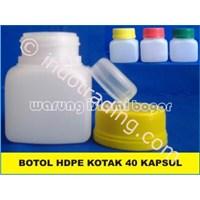 Botol Plastik Hdpe Kotak Ukuran 60 Ml Untuk Kemasan 40 Kapsul 1