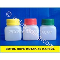 Jual  Botol Plastik Hdpe Kotak Ukuran 60 Ml Untuk Kemasan 40 Kapsul 2
