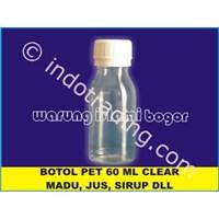 Jual  Botol Plastik Pet Untuk Kemasan Air Zam Zam Ukuran 60Ml Tutup Ulir 2