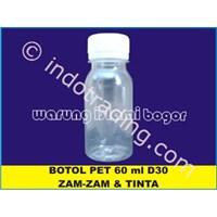 Botol Plastik Pet Untuk Kemasan Air Zam Zam Ukuran 60Ml Tutup Ulir 1