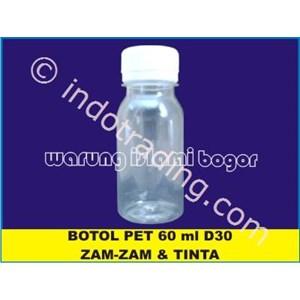 Botol Plastik Pet Untuk Kemasan Air Zam Zam Ukuran 60Ml Tutup Ulir