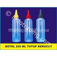 Jual  Botol Plastik Pet Boston Round (Br) Kemasan Minuman Sirup Cair 250Ml 2