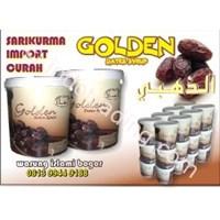 Jual Importir Dan Distributor  Sarikurma Curah Impor Golden Dates Kemasan Ember Isi 25 Kg