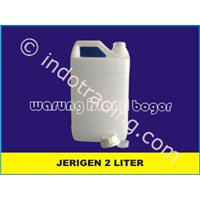 2 Liter Hdpe Plastic Jerry Cans Natural Color Edible Oils Packaging And Zam Zam Water 1