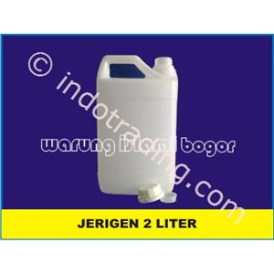 2 Liter Hdpe Plastic Jerry Cans Natural Color Edible Oils Packaging And Zam Zam Water