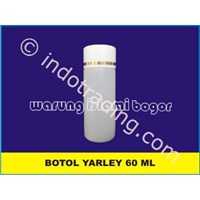Botol Yarley 60Ml Hdpe Warna Natural Tutup Ulir Kemasan Minyak Zaitun Untuk Kosmetik Kecantikan Lotion Dan Pembersih Muka