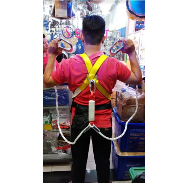 Full Body Harness With Absorber Double Lanyard Big Hook