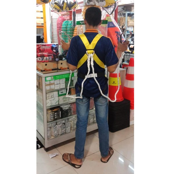 full Body Harness double hook  lanuard tanpa absorber