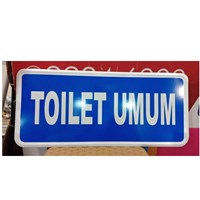 Safety Sign Toilet Umum
