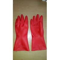 Sarung Tangan Karet 12 inch Warna Merah 1