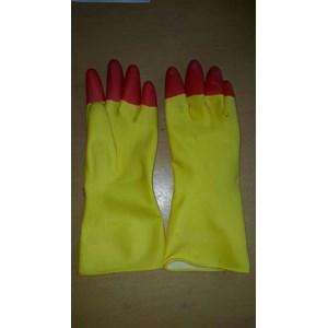 Sarung Tangan Karet 12 inch Warna Kuning Merah
