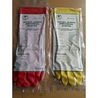 Sarung Tangan Karet Panjang Warna Merah dan Kuning Yutaka 1