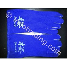 Blue Welding Gloves Sakura 14 inch