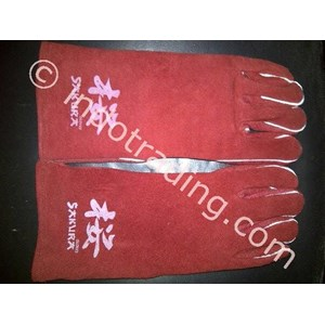 Sarung Tangan Las Merah Sakura
