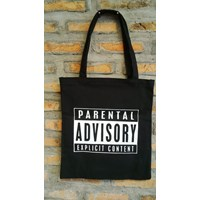 Jual tote bag : PARENTAL ADVISORY