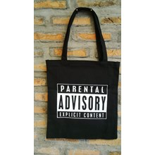 tote bag: PARENTAL ADVISORY