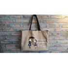 Tote Bag Bahan Kanvas model persegi/flat 2