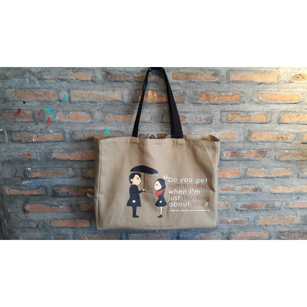 Tote Bag Bahan Kanvas model persegi/flat