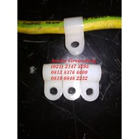 Clamp Grounding 1 hole clip pvc