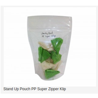 Stand Up Pouch PP Super Zipper Clip 1