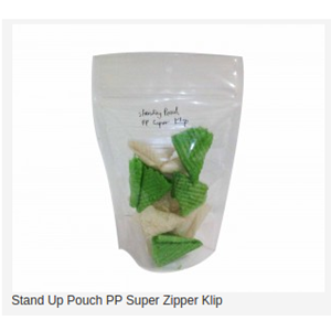 Stand Up Pouch PP Super Zipper Clip