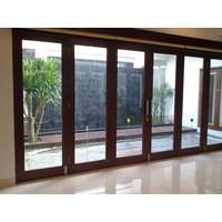 Jasa Design Kaca Ruangan Kaca Partisi UPVC dan Kaca Pintu Sliding By Baja Ringan Construction